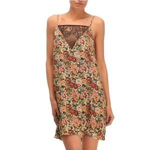 ZARA 90's Floral & Lace Insert Camisole Slip Dress